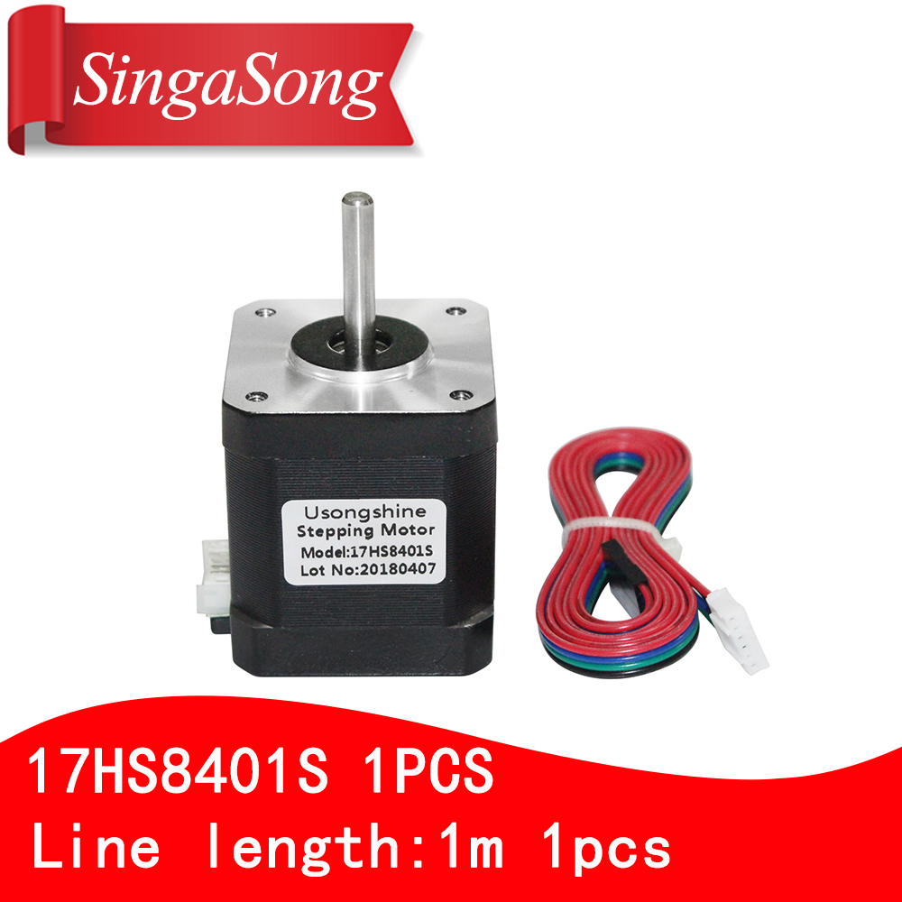 Para 3D impresora 1 piezas 4 Plomo Nema17 Stepper motor 42 Motor Nema 17 motor 42 BYGH 1.7A (17HS8401S) con la línea de DuPont