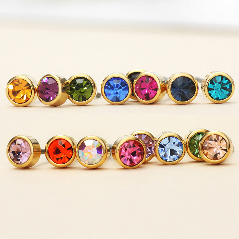 Neoglory Austria Berlian Imitasi Pesona Cahaya Warna Kuning Emas - Perhiasan fashion - Foto 4