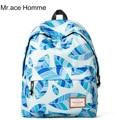 Mr.Ace Homme Nylon printed backpack shoulder bags mochila for teenage girls female cute school bags women ladies travel backpack