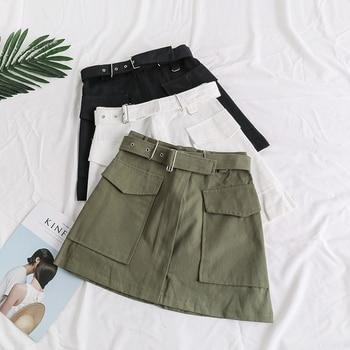 2d32ea9a1 Mujeres falda moda 2018 Faldas femeninas Irregular alta cintura Faldas  señoras de otoño Casual Vintage Feminina