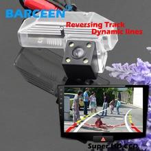 4 СВЕТОДИОДНЫЕ фонари автомобиля камера заднего вида пластиковый Белый прозрачный внешний вид автомобиля динамической трек линии для Mazda 6/M6 2009