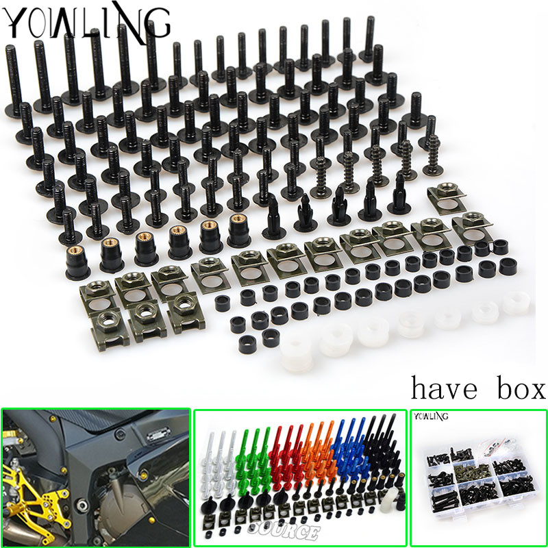 Motorcycle Fairing Body Work Bolts Spire Speed Fastener Clips Screw Spring Bolots Nuts for BMW R T F700GS F800R R1200RT S1000RR