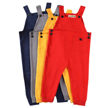 QUIKGROW Adorable Unisex Baby Boy Girl Overalls Pretty Knitted Infant Dungarees Candy Color Long Trousers Jumpsuit YM20KZ