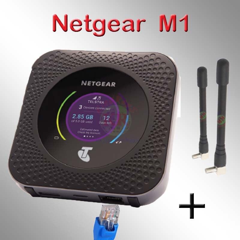 Usado desbloqueado Netgear Bacurau M1 mr1100 4GX lte Mobile Hotspot rj45 lan 5 ghz CAT16 4g carro wi-fi 5040 mAh 4g router Antena
