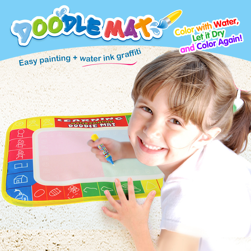 29*30cm Doodle Water Drawing Mat With Magic Painting Pen Non-toxic Water Painting Mat Early Education Drawing Toy For Children