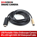 5 M 16.4FT Waterproof NightVision USB Underwater Serpente Pipeline Inspection Camera Endoscópio Endoscópio