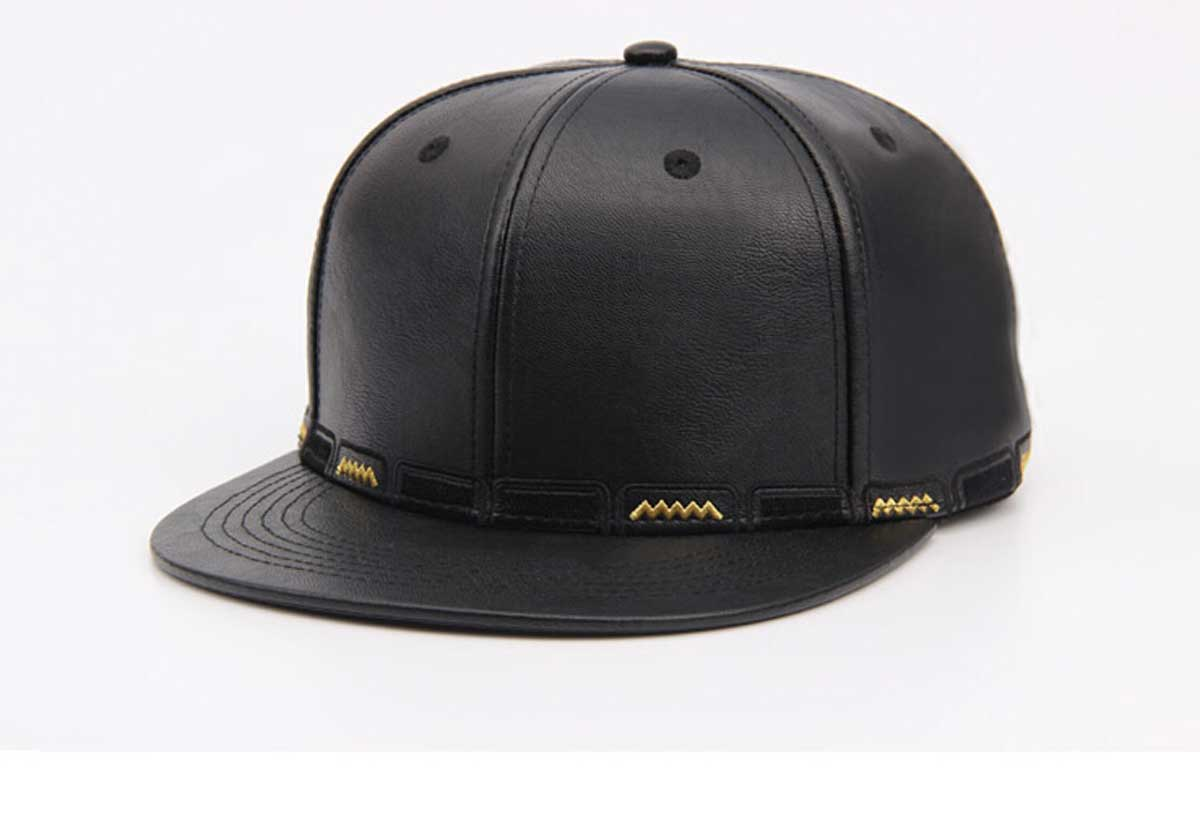 Wholesale 6pcs Embroidery Leather Snapback Hats for Men PU ...