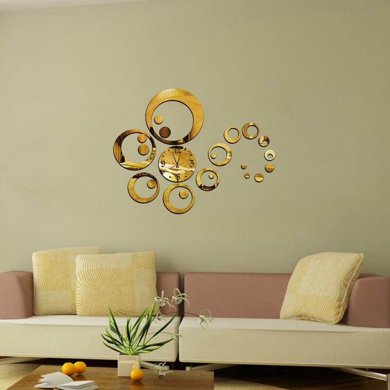 Aliexpress.com : Buy hot sale acrylic mirror stickers watch diy wall clock  clocks Home - Decorative Wall Clocks For Living Room Holiday Design