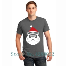 5558268b64 Santa's Favorite Nurse Funny Christmas Nursing Tee Shirt Kawaii Humor Men's  T-Shirt 2018 Male