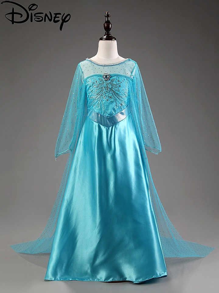 Disney Đầm Xanh Elsa Bé Gái Frozen Trang Phục Nữ Hoàng Tuyết Cosplay Quần Áo Trẻ Em Fantasia Đầm Vestido Giáng Sinh Bộ Trang Phục Nàng Công Chúa