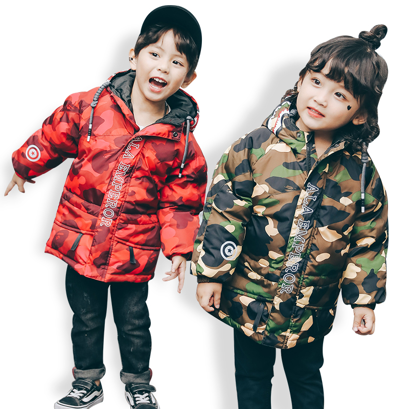 New Winter Jackets For Boys Girls Fashion Boy Thicken Snowsuit Children Down Coats Outerwear Warm Tops Clothes Big Kids Clothing цена