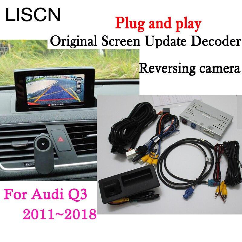 Inverse Caméra Interface Adaptateur Connecter Moniteur à Écran D'origine Pour Audi Q3 2011-2018 MMI Décodeur CCD Nuit Fr Arrière vue Caméra