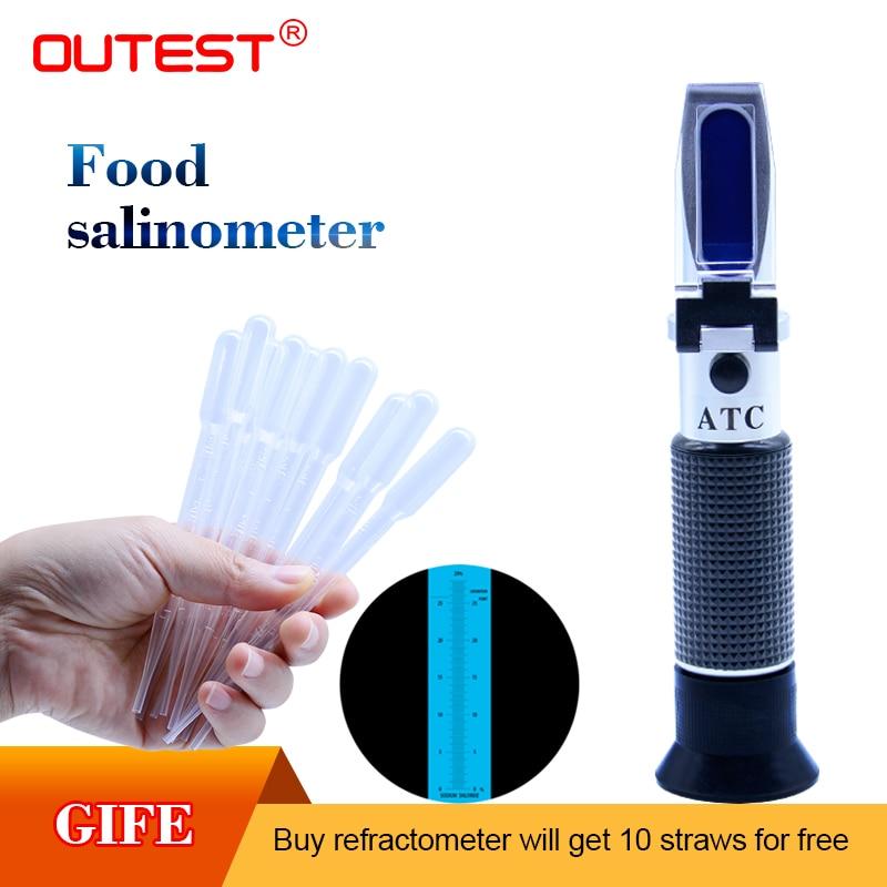 Digital refractometer Food salinity meter Salinometer refractometer Salinity meter 0-28% auto refractor Salt content tester optical salometer salinity refractometer meter 0 10