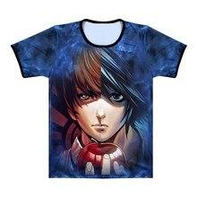 Anime Death Note L Light 3D Split Tops Mens T Shirt Summer Short Sleeve T- 7c9c73b2fe99