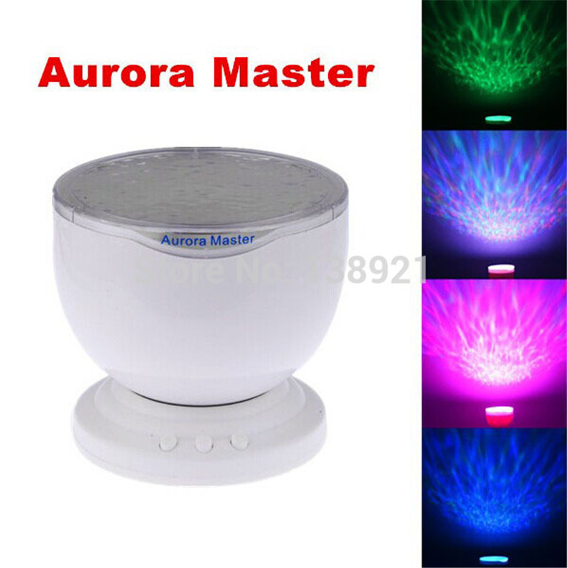 Aurora Master 7 Colorful LED Light Lamp Ocean Wave Relax Projector LED Night Light Lamp MP3
