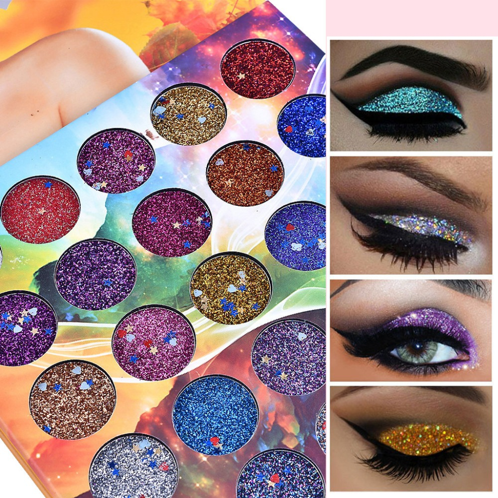 Phoera Glitter Powder Shimmering Colors Eyeshadow Metallic Eye Cosmetic Waterproof Ucanbe Paleta Sombras Focallure Ucanbe A2 Eye Shadow
