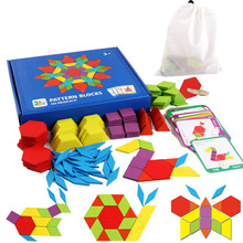 155PCS Wooden Puzzles Montessori Educational Toy Infant Learning Baby Toys for Children