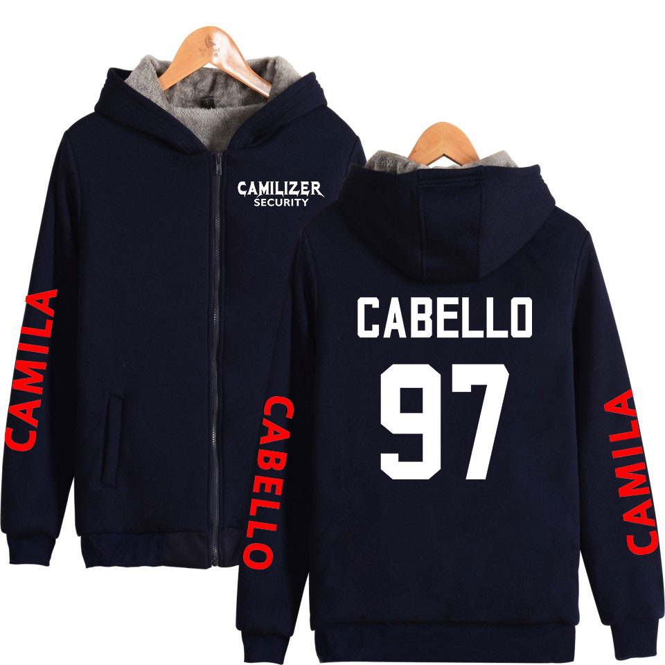 Camila Cabello Never Be The Same Tour Women/Men Fashion Zipper Hooded Warm Thicken Coats 2019 Hot Sale Streetwear Winter Clothes