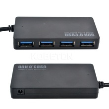 Protable Compact Design 5Gbps USB 3.0 4 Port Hub USB3.0 Splitter Adapter Ultra Speed for Laptop Computer PC High Power Supply