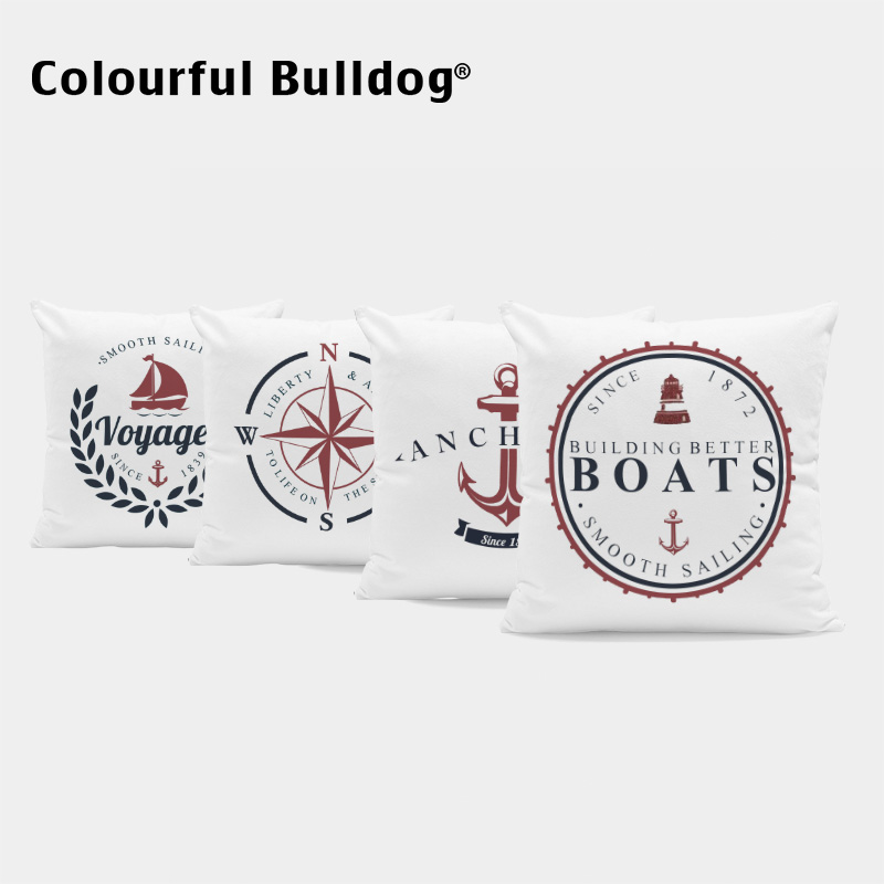Ocean Style Cushions Letter Pillow Cushion Anchor Wedding For Sofa Boats Pillow With Covers Compass 17*17 Inch Relax Home Decor