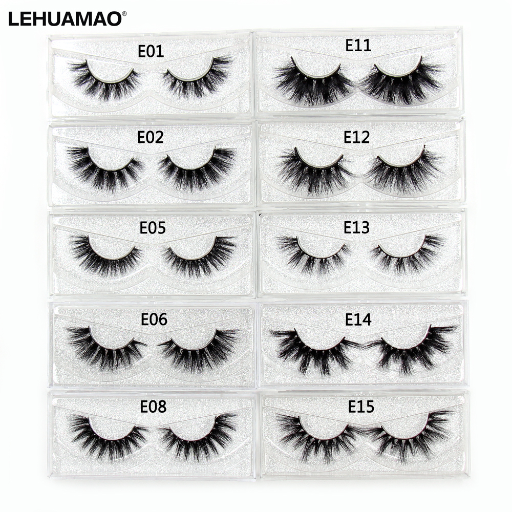 LEHUAMAO Mink Lashes 3D Mink Eyelashes Luxury Volume False Eyelashes100% Cruelty Free Lashes Handmade Reusable Natural Eyelashes