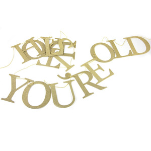 """Image 3 - """"Sarcastic"""" Gold Glitter Holy Shit Youre Old Banner for 30th 40th 50h 60th 70th 80th 90th Funny Birthday Banner Sign Bunting"""