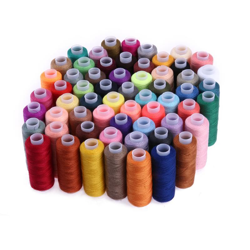 60 farbe 250 Hof Nähgarn Nähen Liefert Quilten Werkzeuge Polyester Stickerei Gewinde für Nähen Maschine Hand Nähen