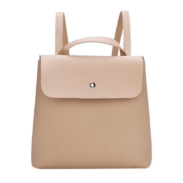 Fashion Women Backpack High Quality PU Leather Backpacks for Teenage Girls Female School Shoulder Bag 4