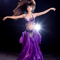 2017 High Quality Stage Dance Wear Cheap Ballroom Belly Dance Costume Set for Women Sequin BellyDance Costumes on Sale