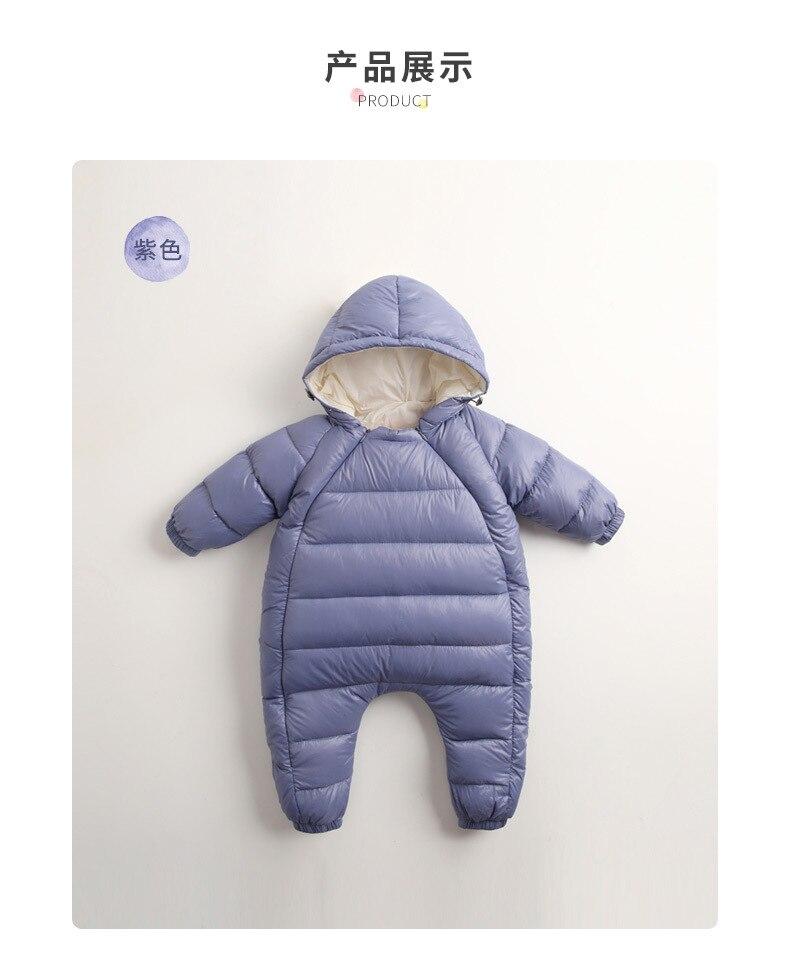 dda670bc847 Snowsuit Baby Snow wear Cotton Padded One Piece Warm Outerwear Children s  Overalls Romper Kids Winter Jumpsuit Newborn Parkas