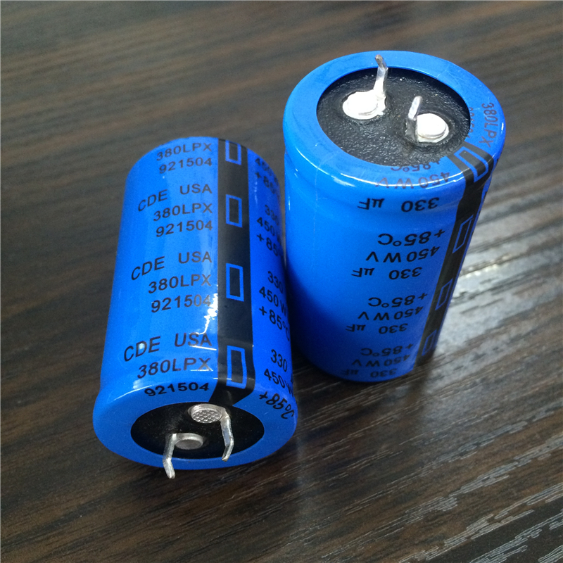 2pcs 330uF 450V CDE LPX Series 30x50mm 450V330uF Snap-in PSU Aluminum Electrolytic Capacitor