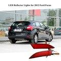 Para Ford Focus 2012 Car Acessórios LED Rear Bumper Refletores de Luz do Freio de Estacionamento luz de Advertência Vermelho À Noite Correndo Luzes Da Cauda