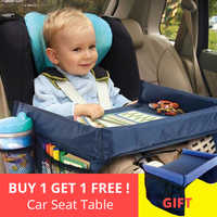 2PCS Waterproof Car Seat Table Kids Toys Food Water Holder Infant Stroller Holder Children Car Seat Tray dining table 40*32cm