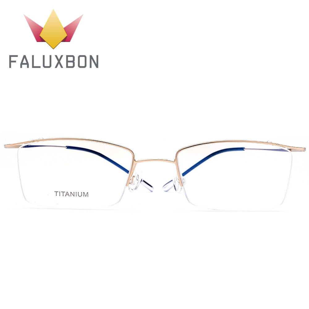 Randlose Männer Titan Ray Blue Halb Anti Optische c2 Schraubenlose Rechteck C1 c3 Legierung Brillen Myopie Brille 2019 pqXxUtn