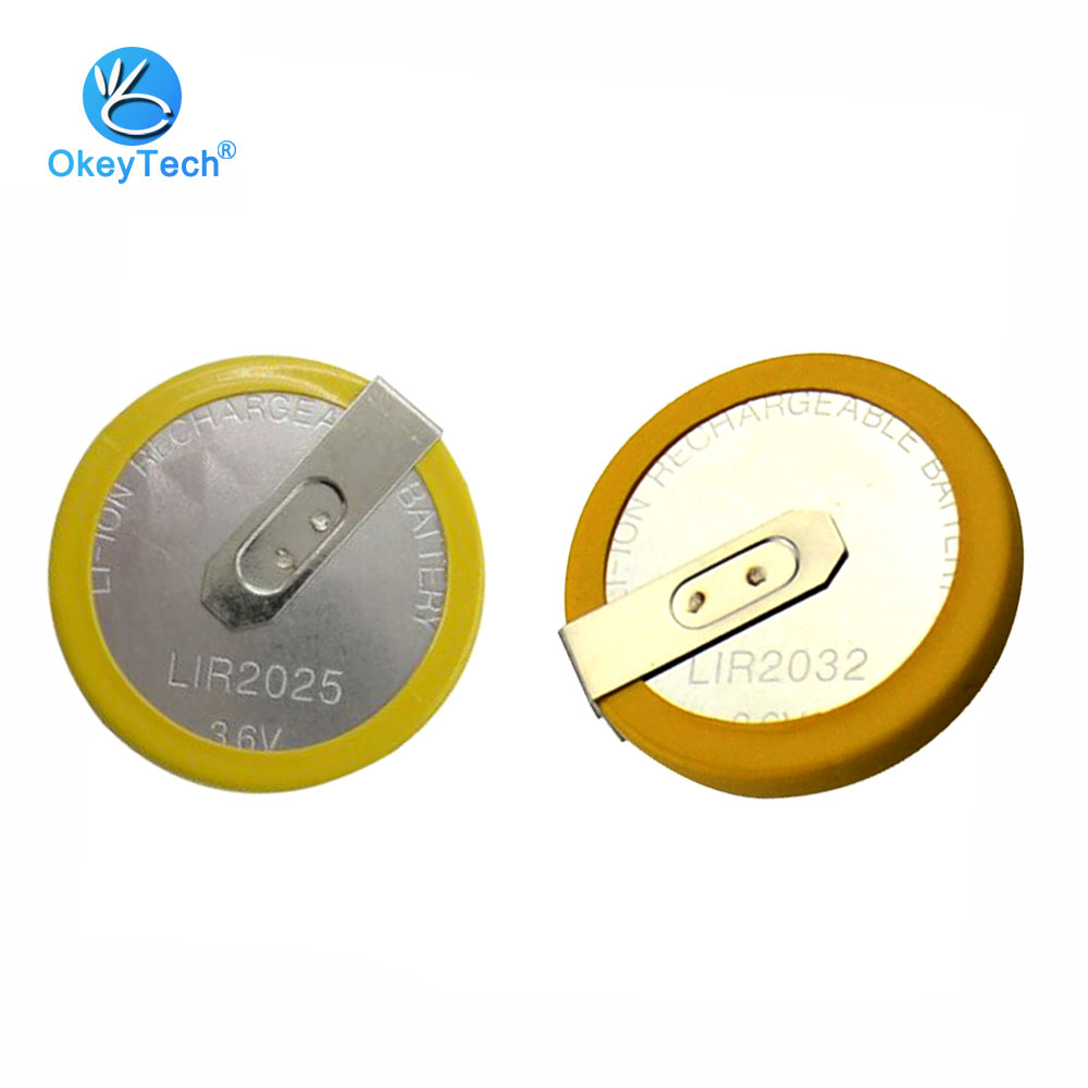 OkeyTech Rechargeble LIR2032/LIR2025 Battery For BMW For Landrover Remote Car Key Shell Cover Case Fob Coin Button Cell 3.6VOkeyTech Rechargeble LIR2032/LIR2025 Battery For BMW For Landrover Remote Car Key Shell Cover Case Fob Coin Button Cell 3.6V