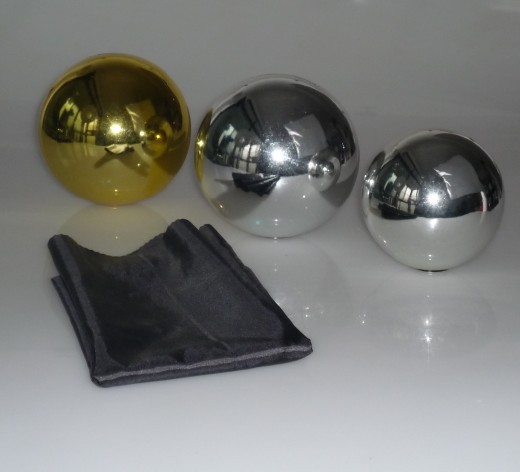 Zombie Ball With Foulard,Large Size (Dia.15cm,Gold/Silver Color Avaiable) Floating Magic Tricks Gimmick Stage Illusion Mentalism