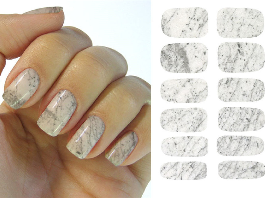 New Water Transfer Nails Art Sticker Graphic Marble Design Nail ...