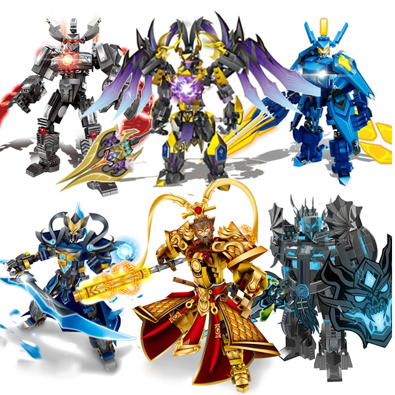 Newavengers Super Heroes Bionicle Building Blocks Romance of the Kingdoms Heroes Monkey King WUKONG Assemble lEgOiNG Bricks Toys reilly m the four legendary kingdoms