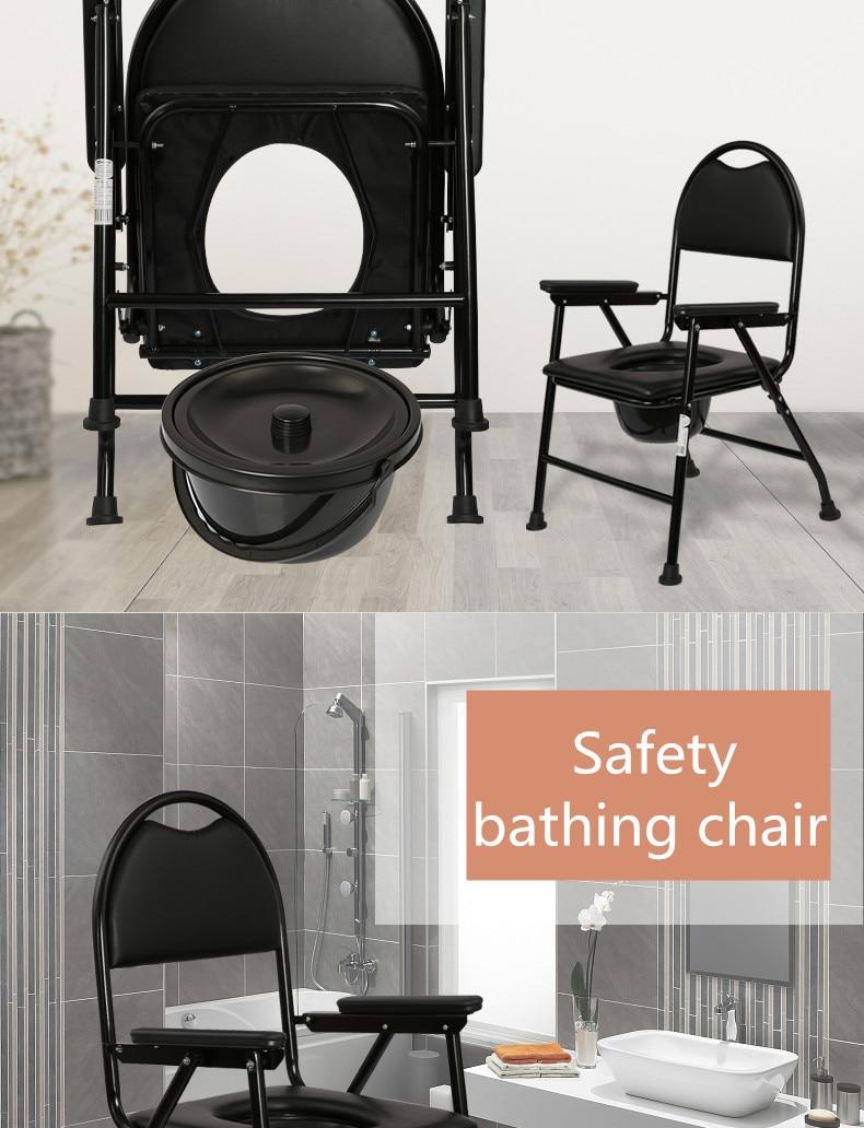 Defekacja krzesło kąpielowe składana Sofa z wiaderkiem mocne