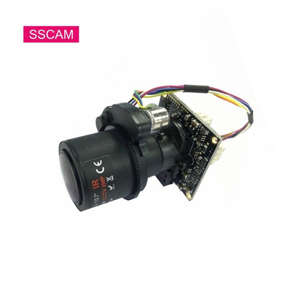 Module de caméra de sécurité Full HD 2MP AHD 2.8-12mm caméra de vidéosurveillance varifocale 4 xZoom motorisée principalement câble OSD de prise en charge de carte PC
