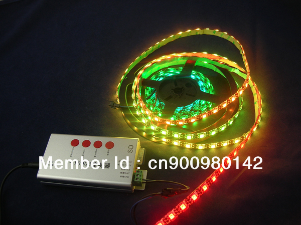ws2812B ws2811 built-in rgb chip,60led/m,black pcb, waterproof IP65,dc 5v smd5050 digital dream color rgb led strip