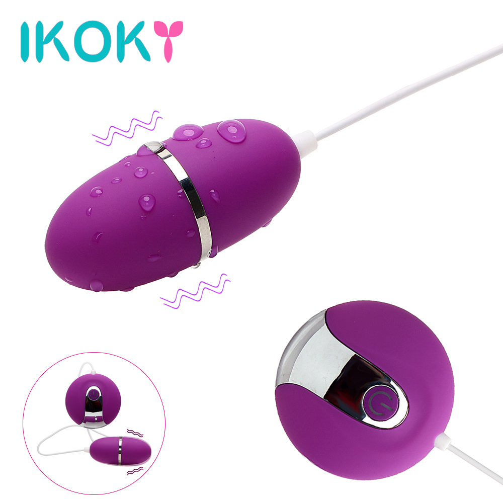 IKOKY 10 Speed Powerful Vibrating Egg Bullet Vibrator Remote Control Clitoris Stimulator Adult Sex Toys for Women Sex Products dibe new vibrator jump egg sex toys for women silicone remote control wireless vibrating eggs waterproof clitoris stimulator
