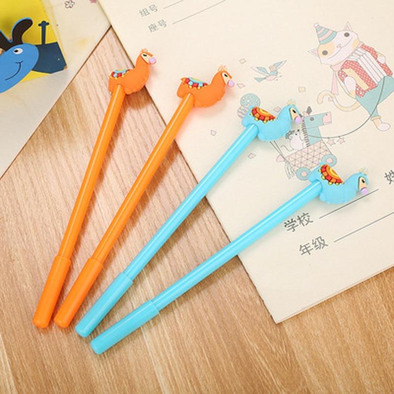 1pcs Alpaca Gel Pens Cute Pens 0.5mm Novelty Cartoon Gel Pen Cute Stationary New Student Kawaii Pen Kawaii School Supplies
