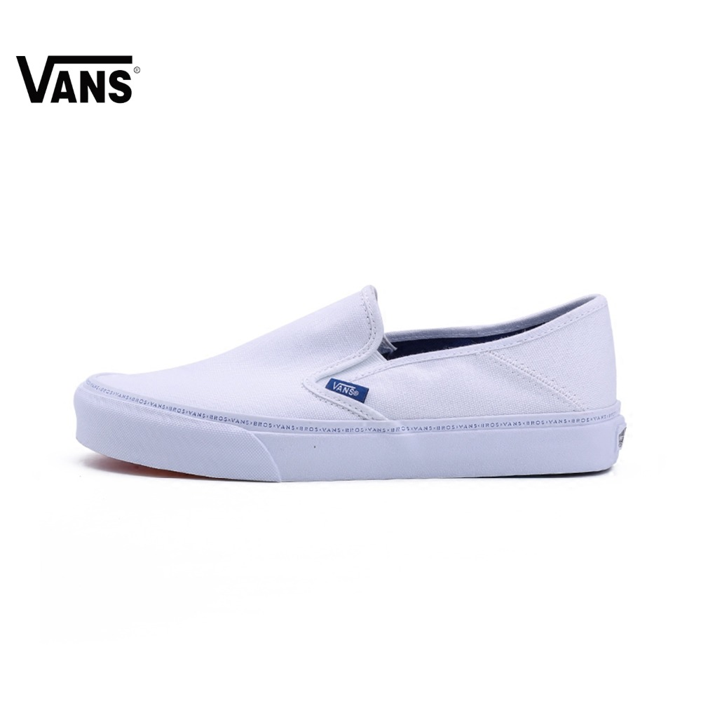 купить Original Vans Shoes White VANS X Brothers Men's Sports Skateboarding Shoes Low-top Rainbow Sole Vans Sneakers Shoes for Men по цене 4828.55 рублей