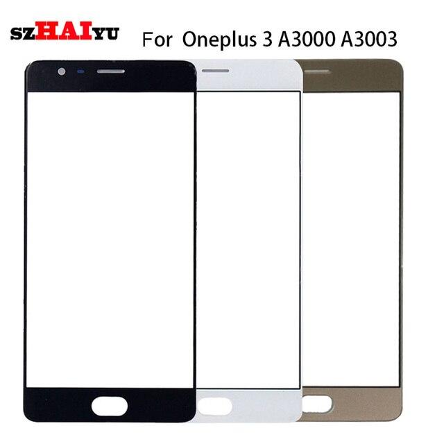 Szhaiyu A + Top lente externa del reemplazo del LCD panel de cristal de pantalla frontal para oneplus 3 A3000 A3003/3 t a3010 vidrio delantero + kits
