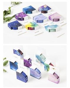 Image 3 - Cintas washi de papel de cielo estrellado, cintas adhesivas de Color 15mm * 7m, marco de scrapbooking, papelería, bricolaje, A6909, 24 unidades por lote