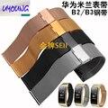 Uyoung huawei b2 b3 inteligente pulsera reloj correa de repuesto niza correa de reloj 16mm milan fleje de acero inoxidable