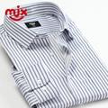 2016 Nueva Llegada de la Marca de Rayas Camisa de Los Hombres de Oxford Camisas de Manga Larga Camisa Casual Para Hombres camisas masculinas Más El Tamaño S-4XL