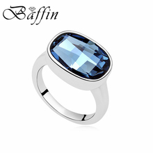 Baffin Fashion Oval Crystal Ring Jewelry Romantic Anniversary Accessories For Women Lovers Original Crystals From Swarovski