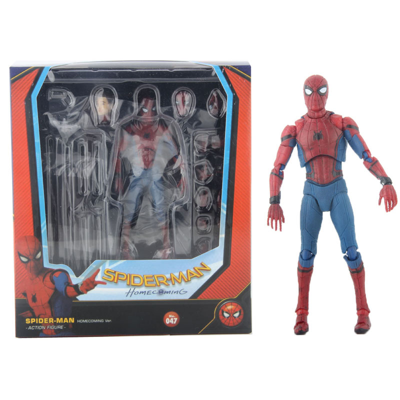 The Marvel Legends Spiderman Super Hero The Amazing Spider Man PVC Action Figure MF047 6 15cm new arrival marvel avengers super hero spiderman spider man carnage action figure